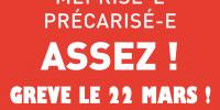 22 mars : Grève et mobilisations dans la Fonction publique pour gagner la reconnaissance de notre travail !
