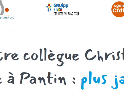 Signez la pétition nationale et intersyndicale. Suicide de notre collègue Christine Renon, directrice à Pantin: plus jamais ça!