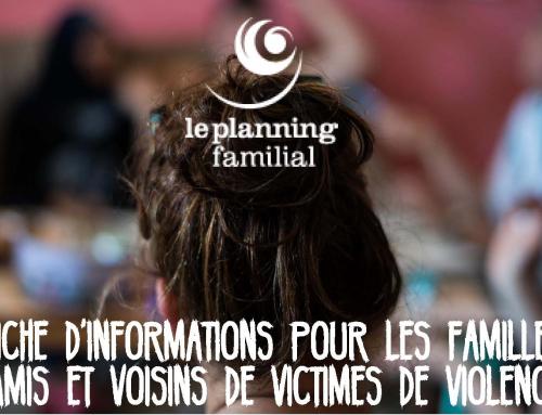Agissons contre les violences intra-familiales envers les femmes et les enfants