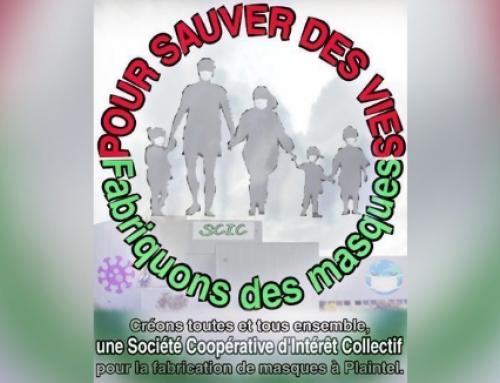 Pour sauver des vies, fabriquons des masques ! Pour la création d'une Coopérative d'Intérêt Collectif à Plaintel